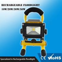 Waterproof and USB charger 10w rgb rechargeable led flood light