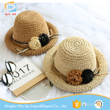 Winup sun summer beach travel children's hat crochet baby straw hat