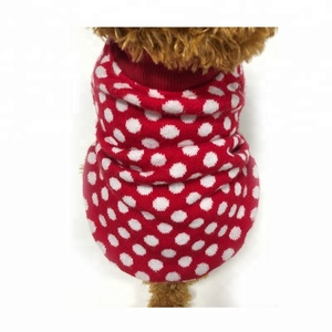 wholesale stocked red christmas knit dog sweater