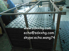 High Density Polyethylene (HDPE) plastic temporary road mat/Solid ground traction mats HDPE
