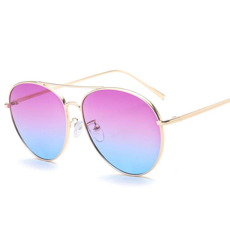 FDA Metal Ocean color no logo novelty sunglasses purple in Yiwu China