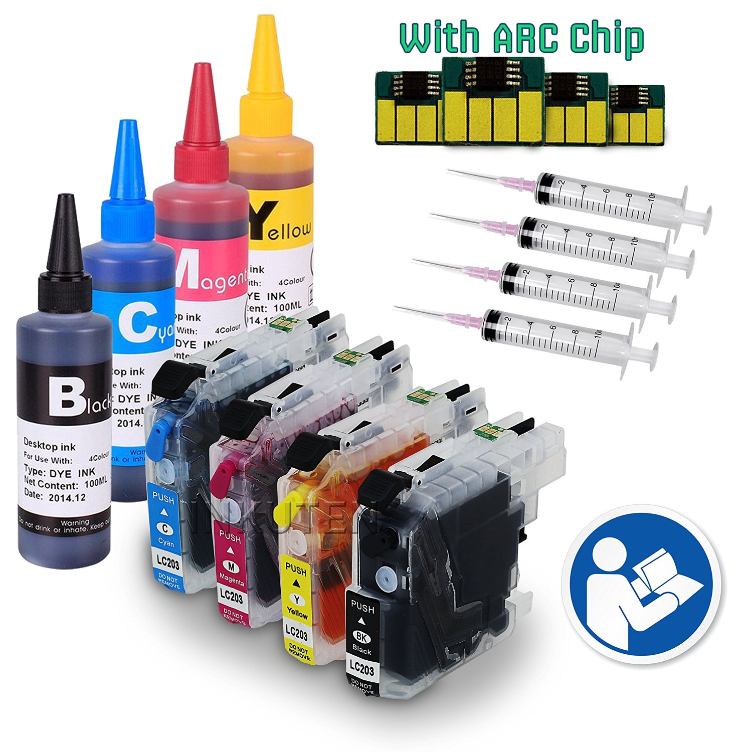 Cheap Lc 101 Refill Cartridge Brother With Reset Chip, find