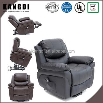 KD LC7085 Modern Black Comfortable Lift Recliner Chair Standing Up Chair  Massage Chair