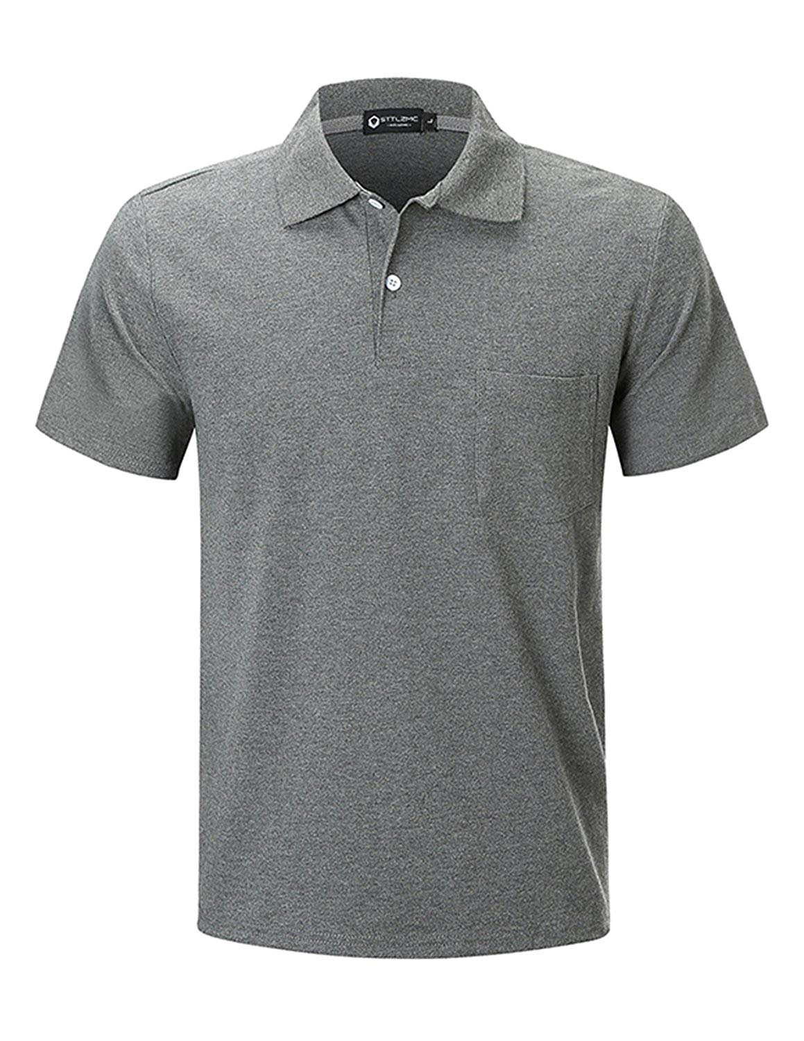 112e5958012 Get Quotations · STTLZMC Men s Short Sleeve Polo Shirts Custom Fit Golf  Original Tops with Pocket