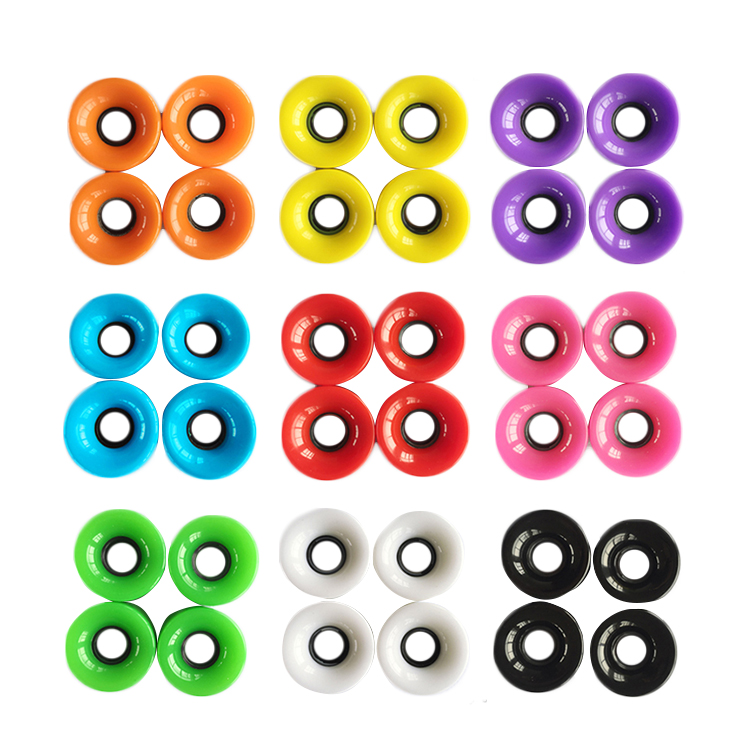 Excellent quality colorful OEM custom printed skateboard parts skateboard wheels