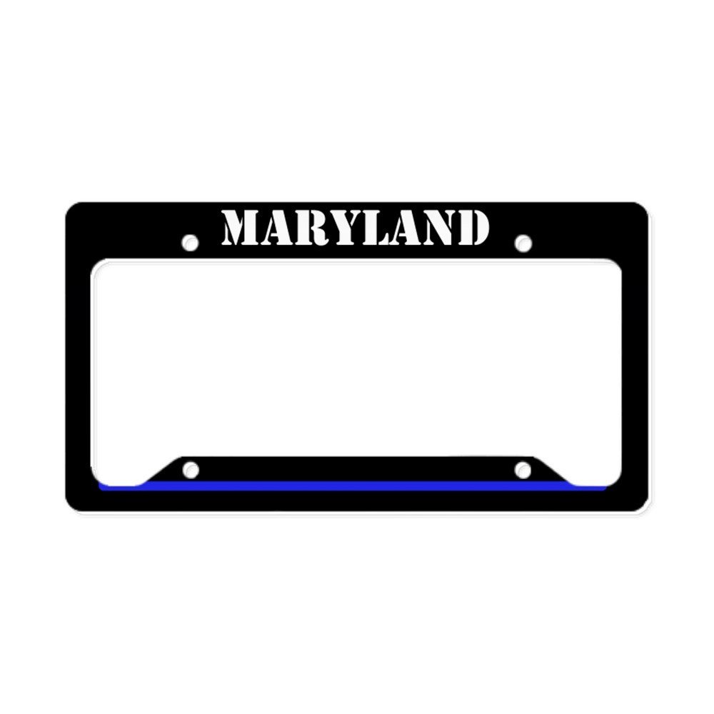 CafePress - Maryland Police License Plate Holder - Aluminum License Plate Frame, License Tag Holder