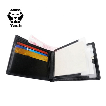 Business Genuine Leather Short Multifunction purses custom magic travel case Card Holder Clip Men's young man Wallet
