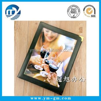 fancy leather restaurant menu cover in xiamen buy menu restaurant