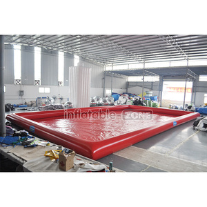 Custom-sized red inflatable pool covers intex swimming pool inflatable
