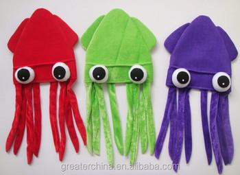 Plush Squid Hat 086fd887709