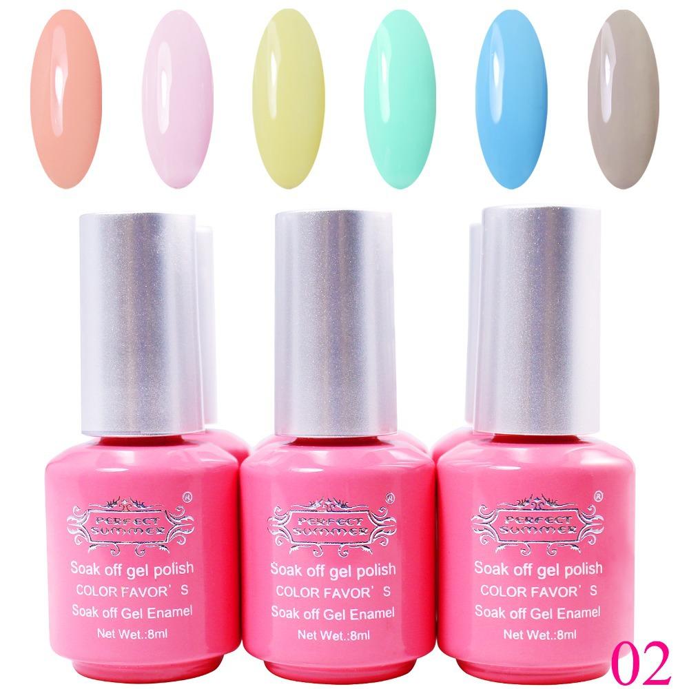 perfect summer led uv gel polish 6pcs set 6colors gel nail polish set hot sale nail uv gel in. Black Bedroom Furniture Sets. Home Design Ideas
