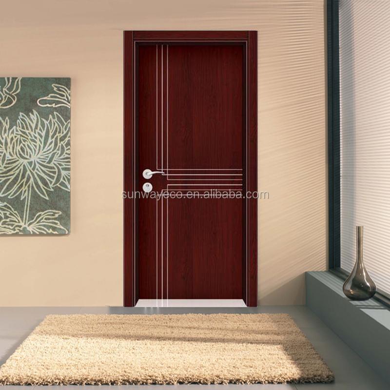 חמה למכירה Wpc דלת חדר שינה פשוט עיצובים-דלתות-מספר זיהוי
