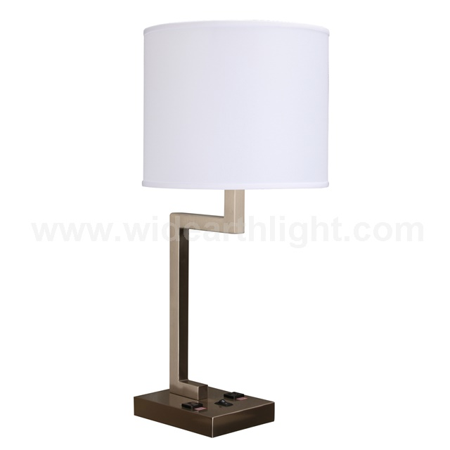 Ul Cul Approved Brushed Nickel Sing Light Inn Day Table Lamp With