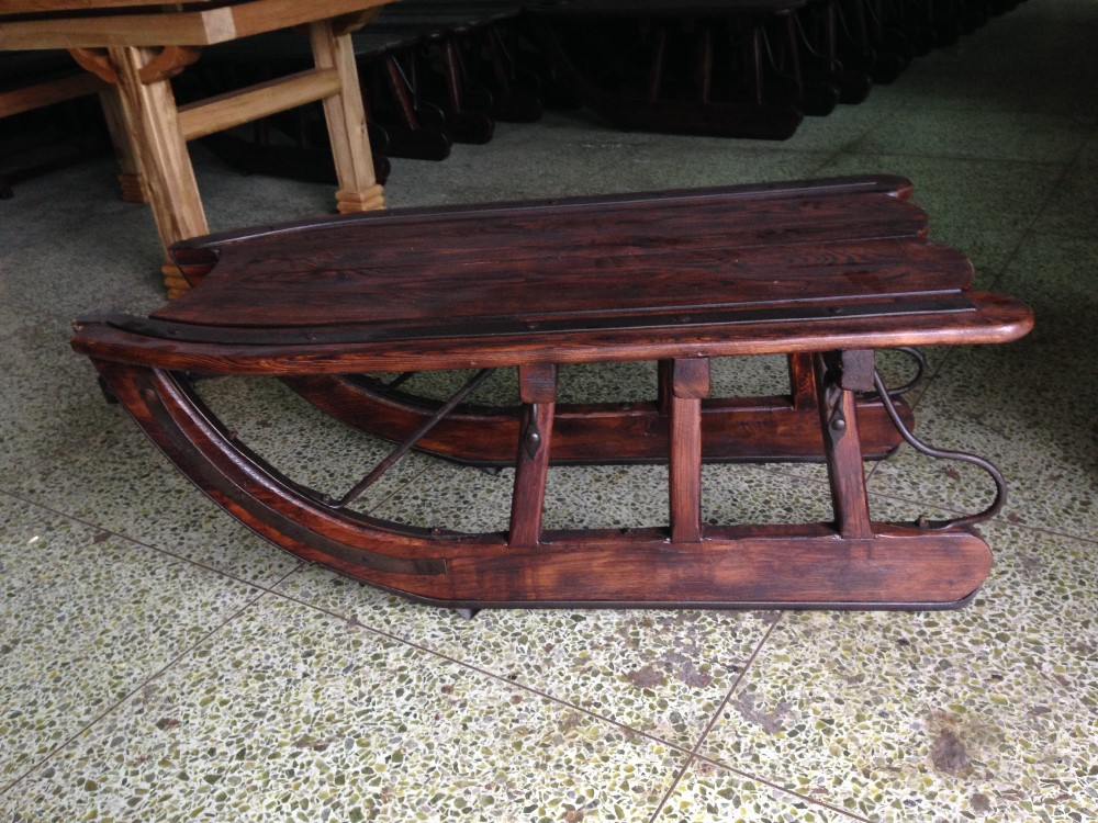 Rustic furniture logging sled coffee table buy rustic for Sled coffee table