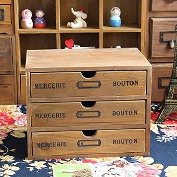 Household Essentials 3 Drawer Wooden