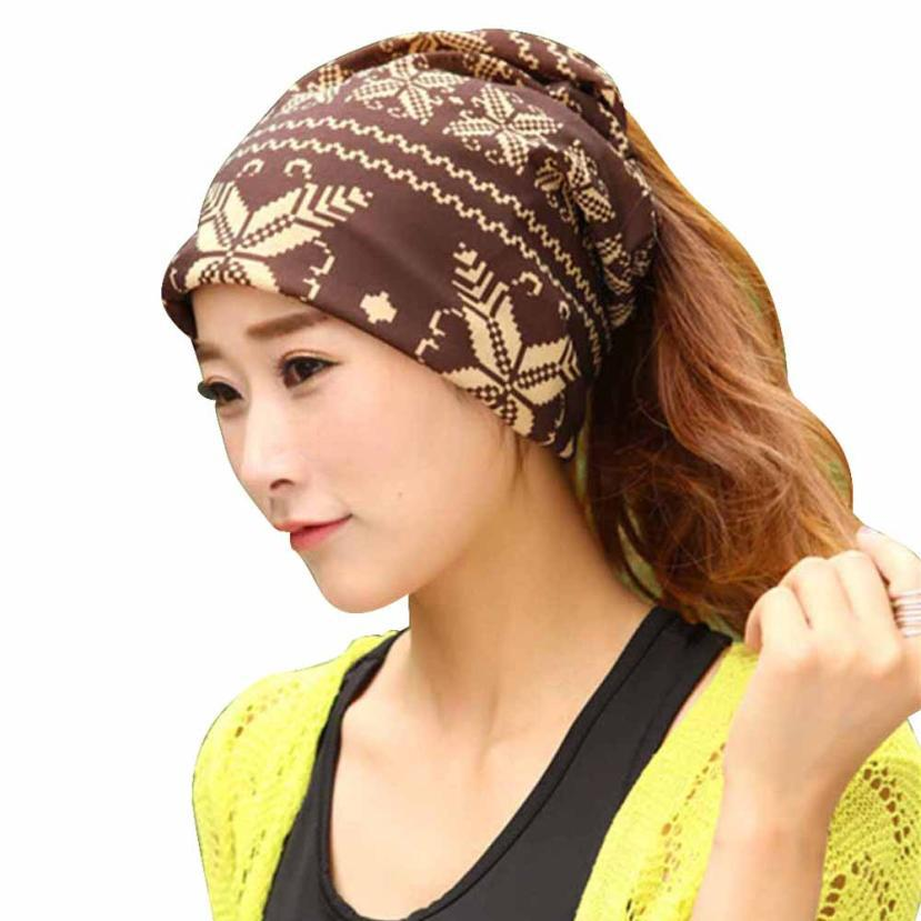 Get Quotations · New Design Warm Winter Hat for Womens 2015 Fashion  Snowflakes stripe Set head cap Baggy Hats 816b62e7e