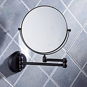 Bathroom mirrors Fold the vanity mirror bathroom vanity mirror hotel wc telescopic mirrors duplex beauty mirror wall mount