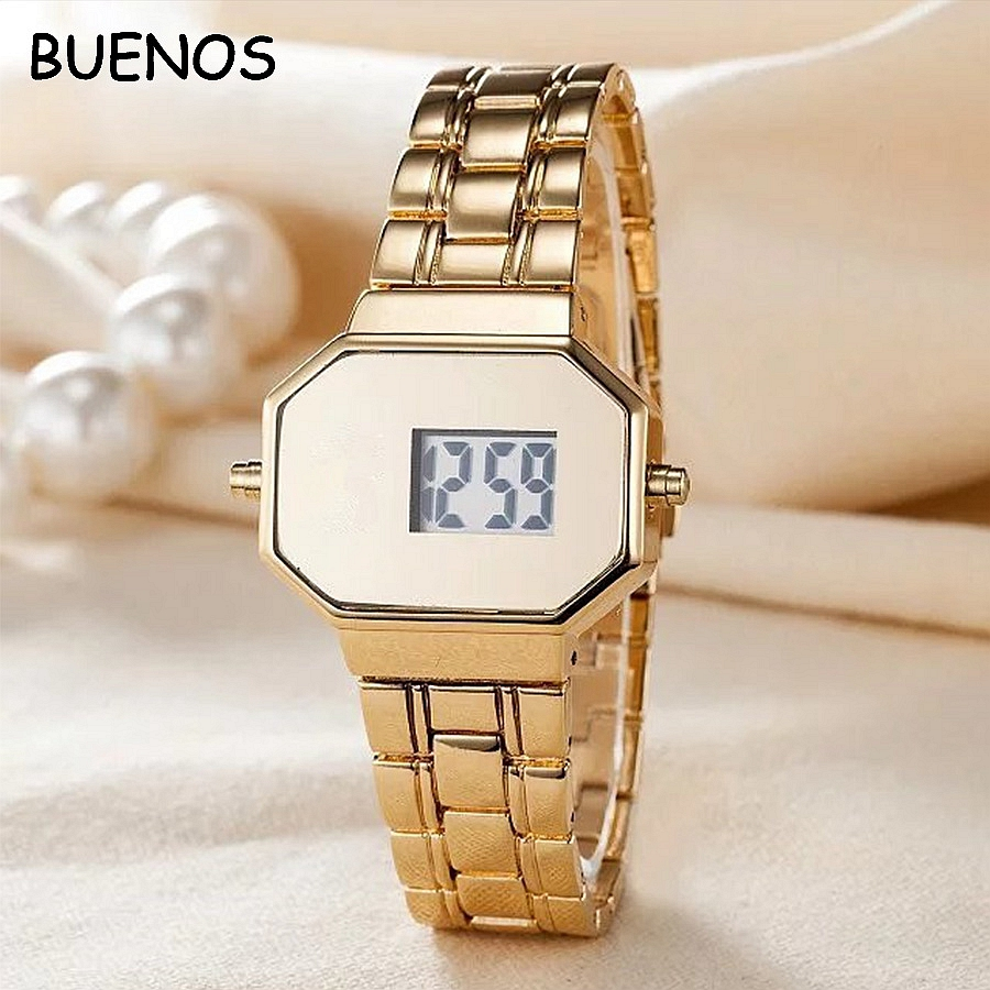 Cartoon Fashion Bears Rectangular Lady Electronic Digital Display Student Watches