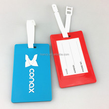 China manufacturer wholesale standard size pvc luggage tag