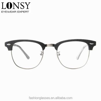 25ef1ed4365 vogue eyewear frame with high quality acetate material optical frame metal  bridge metal half rim round