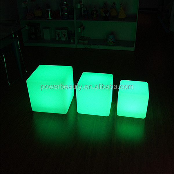 Exceptional Led Light Cube Coffee Table/ Light Up Glow Cube Side Table/ Cube Led Table