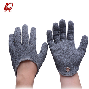 Cut Level 5 Puncture Resistant Sports Crinkle Latex Palm Coated Fishing Gloves