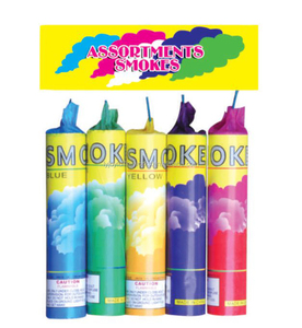 import fireworks and colored smoke