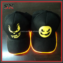 Camo LED Lighted Party Sports Athletic Black Fabric Travel Hat Cap , LED Lighted Hats And Caps , LED Outdoor Sport Lighting