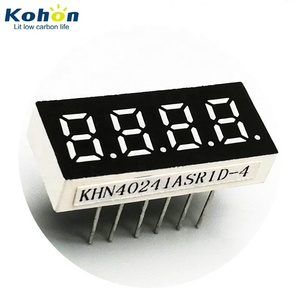 Small 4 digit 0.24 inch 7 segment 10mm led display for digital gauges and meters