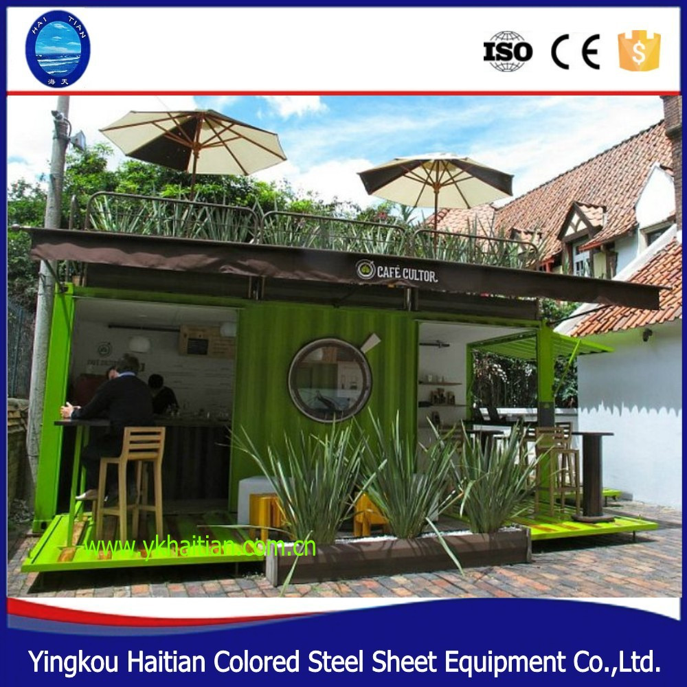 counter glass house design demountable ready made mobile container