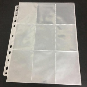 A4 Pouch Folders 11holes Transparent Clear Pocket Sleeves Plastic Filing Wallets