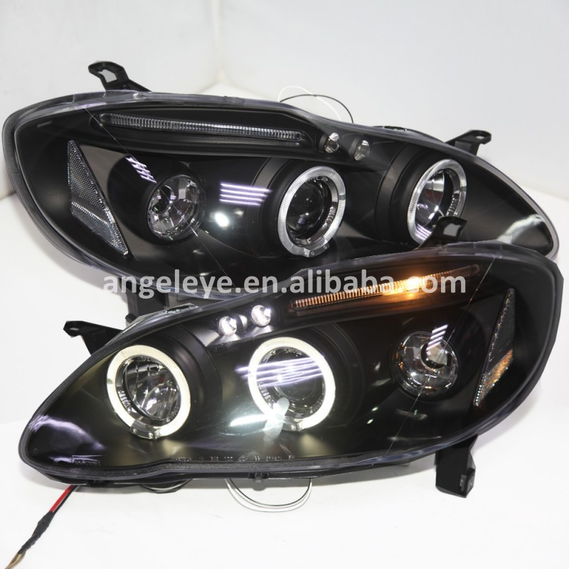 For Toyota Corolla Altis Led Head Lamp Angel Eyes Front Lights 2001 To 2006 Year Jy