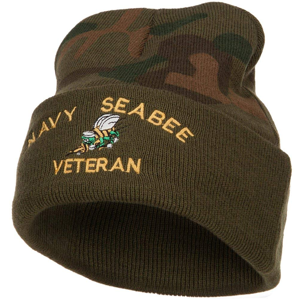 new concept 8b118 689fa ... wholesale get quotations e4hats us navy seabee veteran military  embroidered camo knit long beanie 4e3e1 d16d6