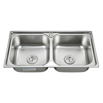 Quanzhou Best Price Double Bowl 18-8 Stainless steel Kitchen Sink