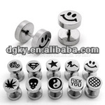 Kinds of figure engraved stainless steel ear piercing