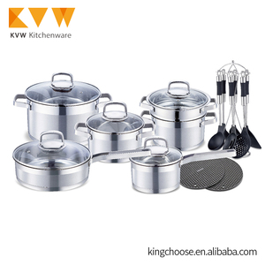 Unique high quality hot sale stainless steel waterless cookware for kitchen