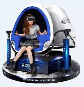 NINED New product shopping center vertual reality experience 360 degree view film technology 9D vr cinema simulator