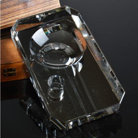 customized cigar or cigarettes ashtray ,k9 crystal material