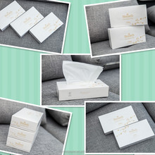 Personal care facial tissue 100pcs per box cotton tissue comfortable white paper