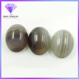 HQ Gems oval cabs natural banded agate gems for ring