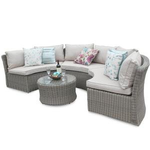 Miraculous Outdoor Half Moon Shape Rattan Sectional Sofa Set Cjindustries Chair Design For Home Cjindustriesco