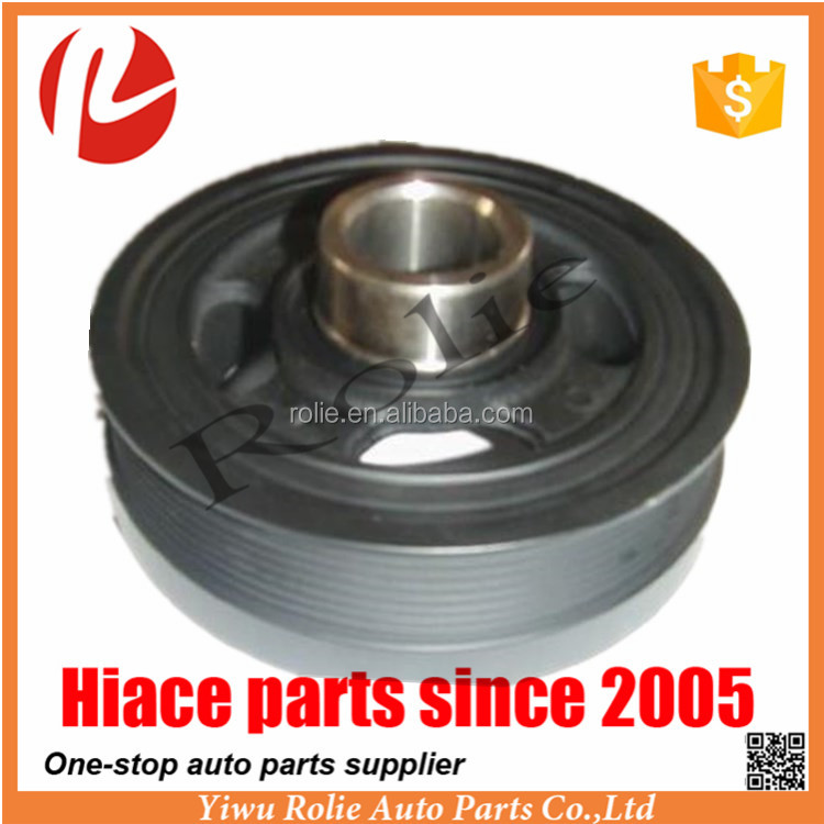 High Quality New Crankshaft Pulley for Toyota Hiace Van 2005 1KD 2KD KDH 200 201 203 Parts