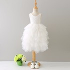 Fancy Dresses For Baby Girl Plain White Tutu Dress Girls Ruffle Party Dress