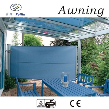100% Anti UV Aluminum Retractable Sun Screen Awning For Garden Shed
