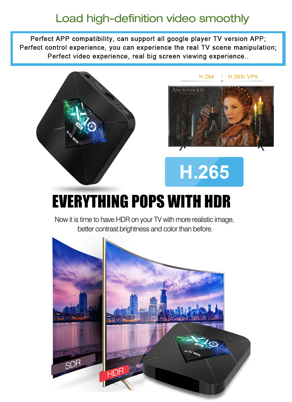 X10 quad core Android 7.1 TV BOX Support OEM/ODM media market android smart tv box Amlogic Android Tv Box