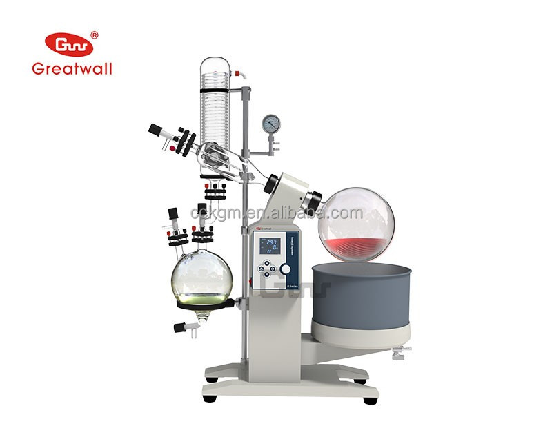 Rotary Vapor Machine 5Liter Vacuum Rotary Evaporator with Vacuum Pump and Chiller for Industry, Pharmacy, Laboratory