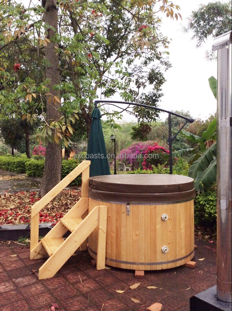 Outdoor Wooden Round Hot Tubs For 2~8 Person For Commercial Use ...
