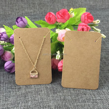 New Style 8.8*5.6cm 100pcs Black&Kraft Paper Blank Necklace Cards&Earring Cards Jewelry Classic Display Card Accept Custom Logo