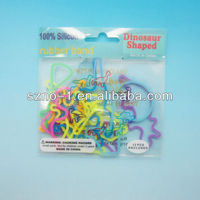 Multi Famous Fun Animal Silly Shape Band Glow Fluorescent Elastic Silly Bracelet Bandz