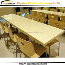 Luxury high-end designer white solid surface luxury dinning room set